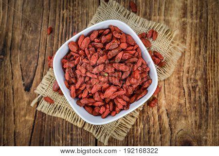 Portion Of Goji Berries