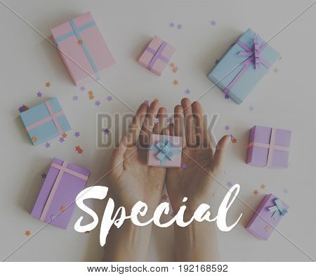 Special For You Gift Celebration Word Graphic