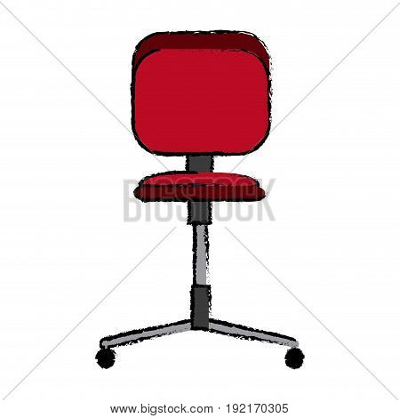 office chair wheel seat comfortable icon vector illustration