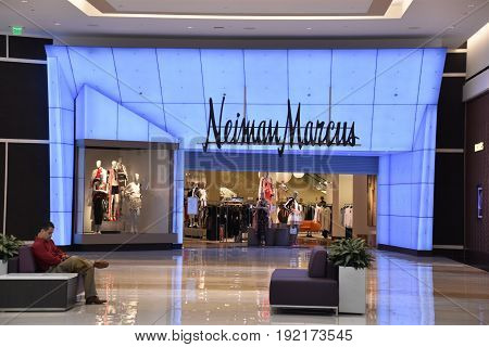 KING OF PRUSSIA, PA - MAY 6: Neiman Marcus at King of Prussia Mall in Pennsylvania, as seen on May 6, 2017. It is the largest shopping mall in the United States of America in terms of leasable retail space.
