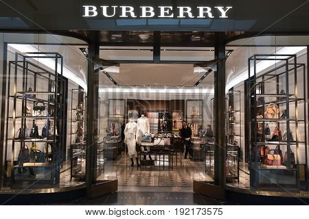 KING OF PRUSSIA, PA - MAY 6: Burberry store at King of Prussia Mall in Pennsylvania, as seen on May 6, 2017. It is the largest shopping mall in the United States of America in terms of leasable retail space.