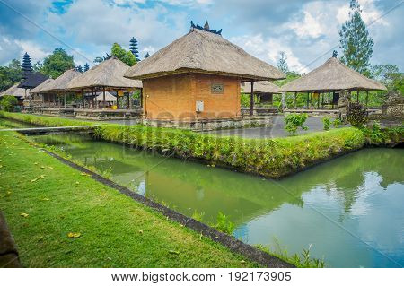 BALI, INDONESIA - MARCH 08, 2017: Royal temple of Mengwi Empire located in Mengwi, Badung regency that is famous places of interest in Bali, Indonesia.