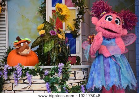 LANGHORNE, PA - MAY 7: The Magic of Art show at Sesame Place in Langhorne, Pennsylvania, on May 7, 2017. The park includes a variety of rides, shows, and water attractions suited to young children.