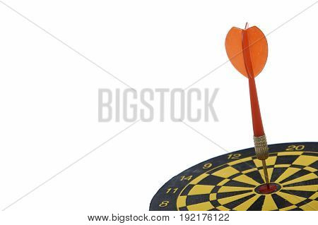 Target Dart With Red Arrow Isolated On White Background
