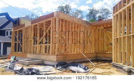 Unfinished Wood Frame Building Or House