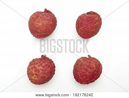 Set Of Fresh Lychees Fruit