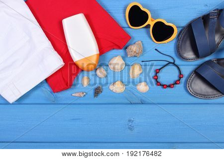 Clothing For Woman And Accessories For Vacation, Summer And Relaxation Time