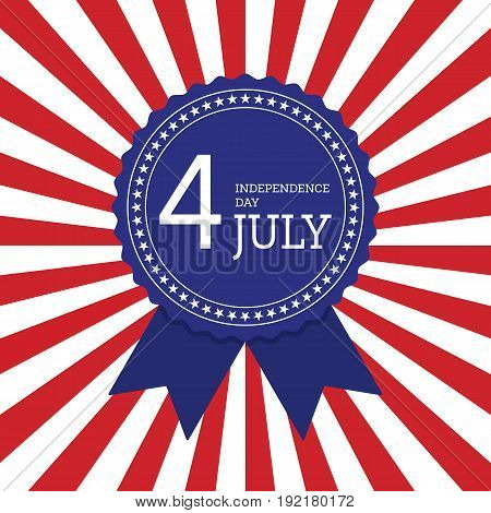 Fourth of July independence day United States of America background flat design vector illustration
