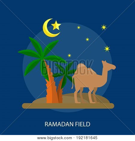 Ramadan Field Conceptual Design | Set of great flat design illustration concepts for religion, ramadan, islamic and much more.