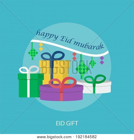 Eid Gift Conceptual Design | Set of great flat design illustration concepts for religion, ramadan, islamic and much more.