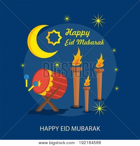 Happy Eid Mubarak Conceptual Design | Set of great flat design illustration concepts for religion, ramadan, islamic and much more.