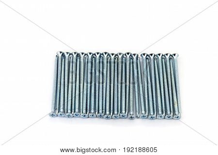Rawbolts With Wall Dowels Laid Out In A Raw
