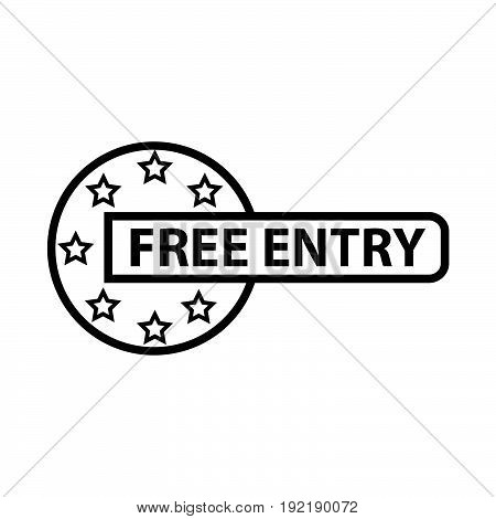 Simple thin line free entry icon vector
