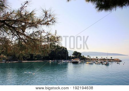 a view at the beach of Krk, Croatia