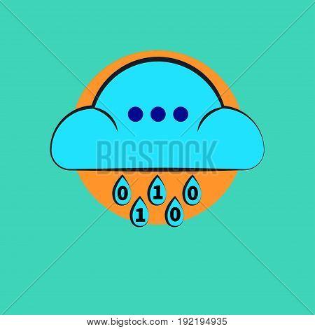 Icon cloud service. Logo big data. Stock vector