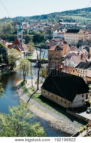 View of Cesky Krumlov, Czech Republic