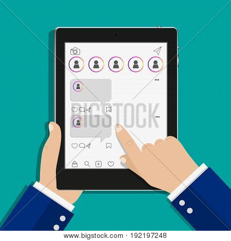 concept of testimonials messages notifications feedback flat style