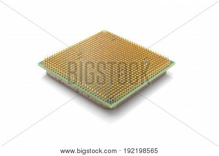 a central processor on a white background