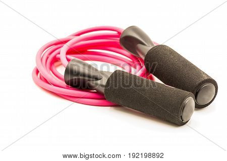 sport jump rope isolated on white background