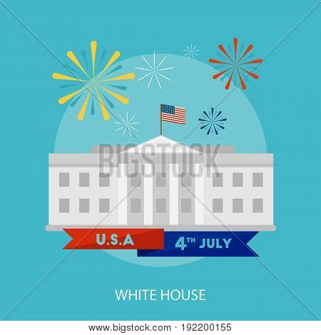 White House Conceptual Design | Set of great flat design illustration concepts for region, state, usa, independence and much more.