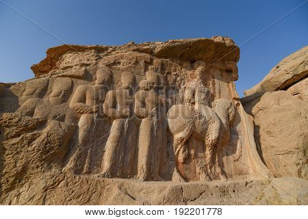 Naqsh-e Rajab is an archaeological site and part of the Marvdasht cultural complex about 12 km north of Persepolis in Fars Province Iran