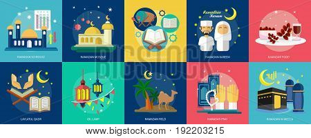 Ramadan Conceptual Design | Set of great flat design illustration concepts for religion, ramadan, islamic and much more.