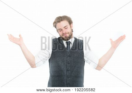 Gentleman Or Man Or Smiling Gentleman In Waistcoat And Tie