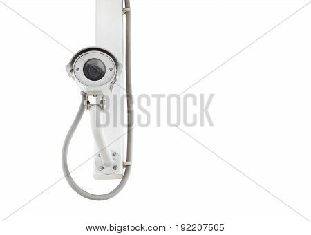 Cctv Isolated On White Background (with Clipping Path)