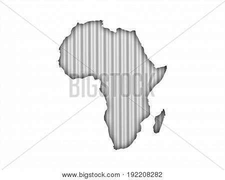 Map Of Africa On Corrugated Iron