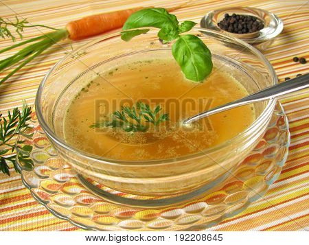 Fasting soup Fasting meal Vegetable fastin soup in bowl