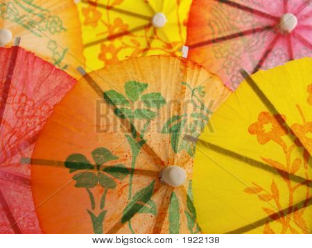 Different Umbrellas For Cocktail