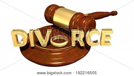 Divorce Law Concept 3D Illustration