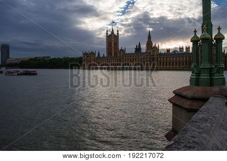 the houses of parliament from westminster bridge in london
