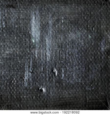 Abstract old gray painted acrylic or oil paints texture for background. Modern acrylic oil art. Grunge dirty hand drawn painting on canvas texture for vintage backdrop