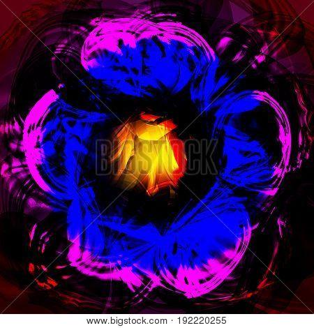 Twirl luminous light pink blue background for design