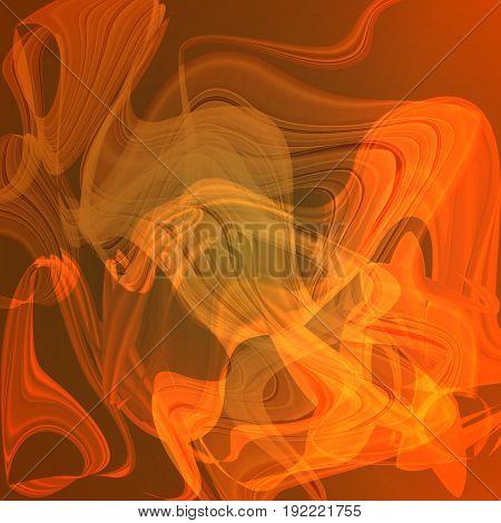 Twirl luminous light orange abstract background for design