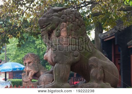 the shishi of The Wuhou Temple