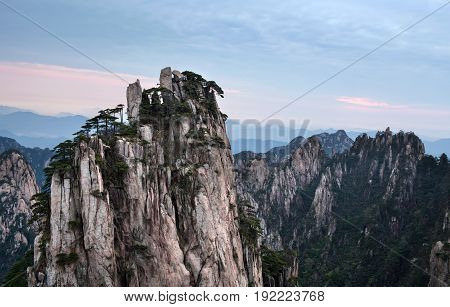 Huangshan Mountain (Yellow Mountains) in Anhui Province of China