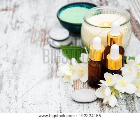 Spa Products With Jasmine Flowers