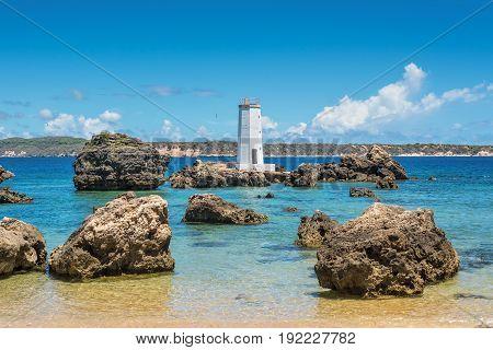 Lighthouse on the northern tip of Madagascar in Antsiranana (Diego Suarez Cap Andranomody)