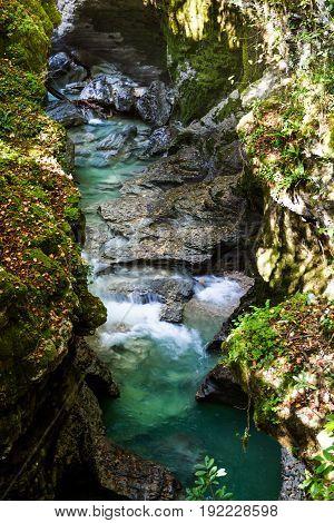 Martvil Canyon, Georgia, Kutaisi. River, Lakes, Waterfalls.