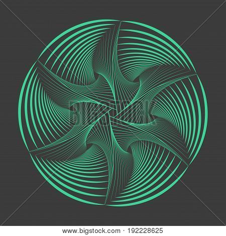 Abstract spirograph element. Vector spirograph illustration. EPS10.