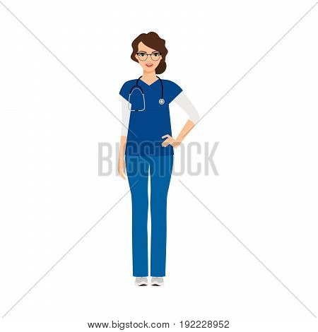 Dermatologist medical specialist isolated vector illustration on white background