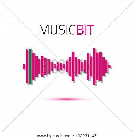 Music beat. Abstract audio equalizer technology. Sound Wave. Space For Text. Vector illustration.