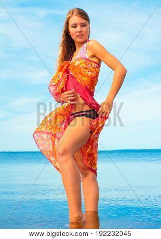 Sea Portrait Girl