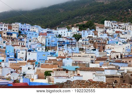 Veiw of blue city Chefchaouen, Morocco, Africa