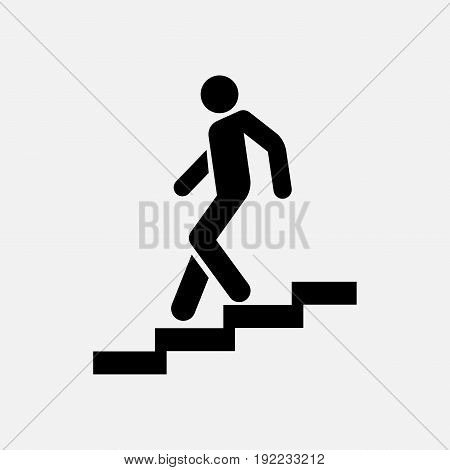 icon descent down the stairs signpost fully editable image