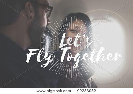 A couple is on honeymoon travel.