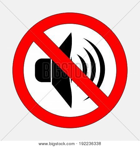 sign prohibiting noise signals is prohibited silent fully editable image