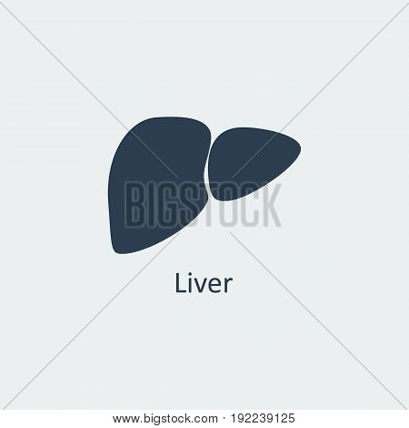Liver icon. Human organs. Symbol for your design